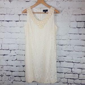 Ronni Nicole Lace Beaded Neckline Dress Size 12